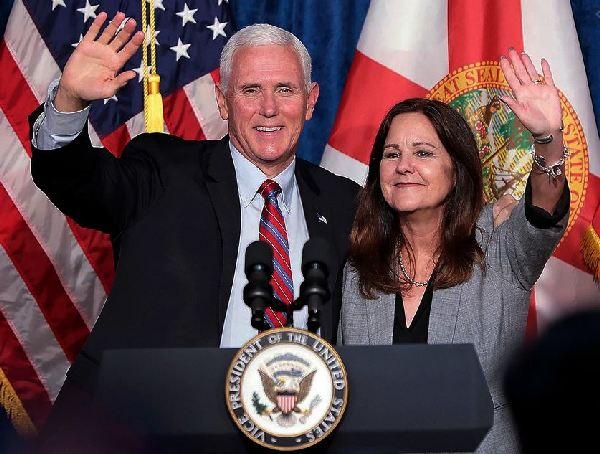 How much weight did Karen Pence lose