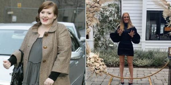 Slim Adele before and after weight loss