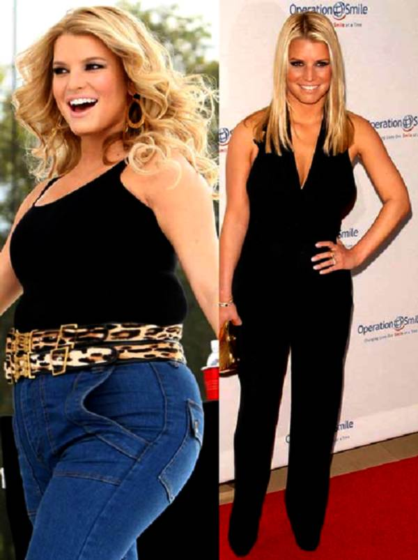 When did Jessika Simpson lose weight before and after photo