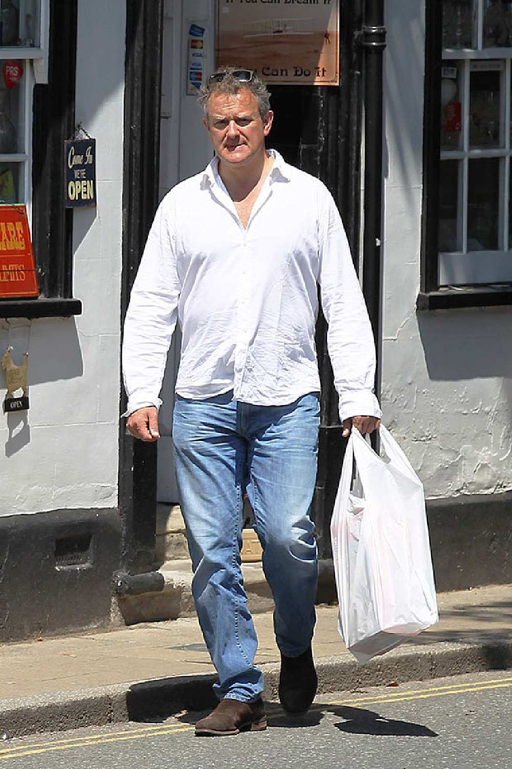 Why has Hugh Bonneville lost so much weight?
